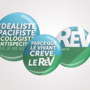 Lot de 3 badges du REV