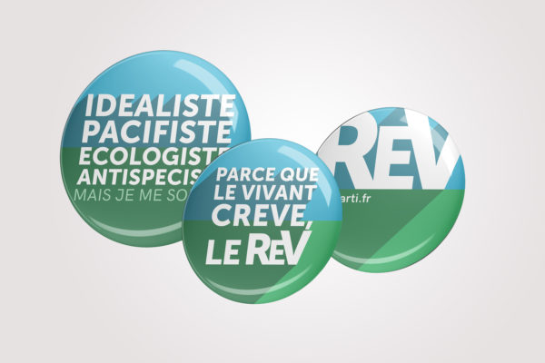 Lot de 3 badges du REV
